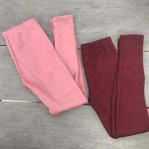 Just Cozy 2 pairs insulated leggings girl 10-12